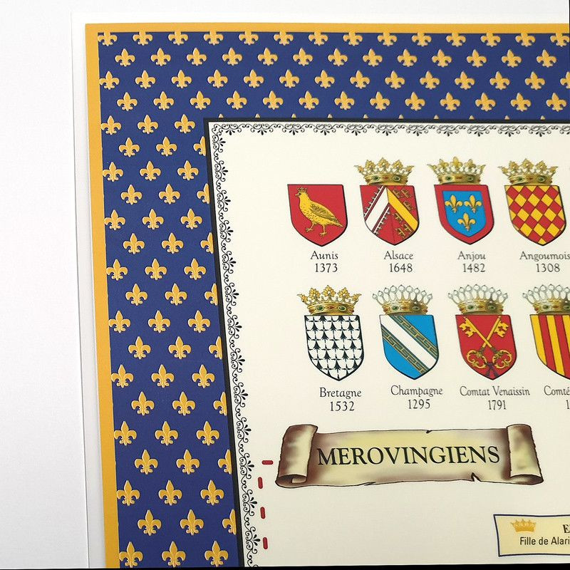 Plastified Poster of the Genealogical Tree of the Kings of France - 7